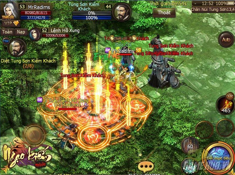 Trải nghiệm Game kiếm hiệp võ lâm hấp dẫn cũng Ngạo Kiếm Mobile.
